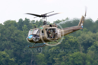 H-1USA 00017 A low flying Bell H-1 Iroquois Huey US Army military helicopter picture by Peter J Mancus