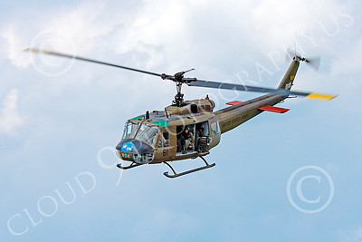 H-1USA 00019 A lovely view of a flying Bell H-1 Iroquois Huey US Army military helicopter picture by Peter J Mancus
