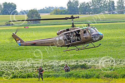 H-1USA 00006 A hoovering Bell H-1 Iroquois Huey US Army military helicopter picture by Peter J Mancus