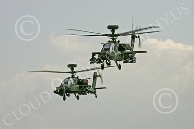 AH-64 00002 Two flying Boeing AH-64 Apaches US Army 9-2010 helicopter picture by Paul Ridgway