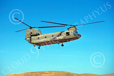 CH-47NG 00008 A flying Boeing CH-47D Chinook California National Guard 7-1987 helicopter picture by Peter J Mancus