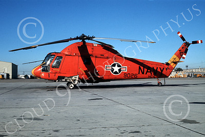 UH-2A-USN 00002 A static red Kaman UH-2A Seasprite USN NAS Imperial Beach 1-1968 helicopter picture by Bud Donato