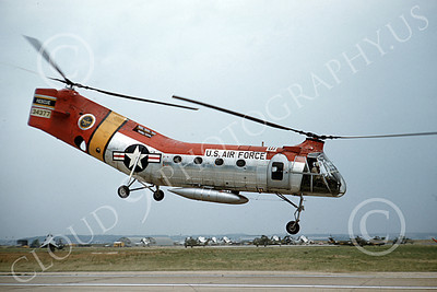 H-21USAF 00002 A flying Piasecki H-21 Workhorse USAF 34377 RESCUE by Warren D Shipp