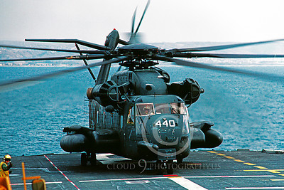 CH-53EUSN 00001 A static Sikorsky CH-53E Super Stallion USN helicopter picture 4-1985 by Peter J Mancus