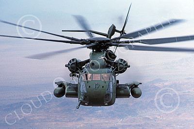 CH-53EUSMC 00070 A flying Sikorsky CH-53E Super Stallion USMC 5-1985 helicopter picture by Peter J Mancus