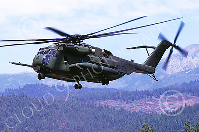 CH-53EUSMC 00028 A flying Sikorsky CH-53E Super Stallion USMC Truckee 7-1990 helicopter picture by Peter J Mancus