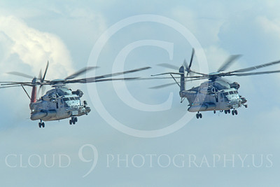 CH-53EUSMC 00044 Two USMC Sikorsky CH-53E Super Stallions fly in close formation, military helicopter picture, by Peter J Mancus