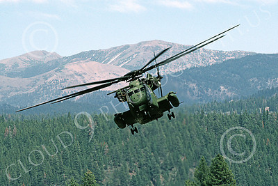 CH-53EUSMC 00066 A flying Sikorsky CH-53E Super Stallion USMC Truckee 7-1990 helicopter picture by Peter J Mancus
