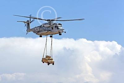 CH-53EUSMC 00056 A flying USMC Sikorsky CH-53E Super Stallion with a slinged load, military helicopter picture, by Peter J Mancus