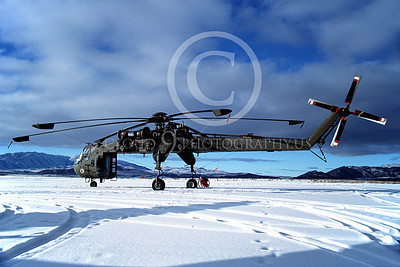 CH-54NG 00001 A static Sikorsky CH-54 Sky Crane Tarhe Reno Nevada Natl Guard helicopter picture 2-1989 by Peter B Lewis