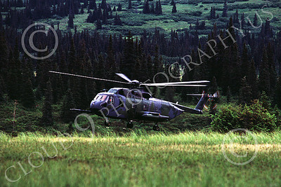 H-3USAF 00004 A hoovering Sikorsy HH-3 Jolly Green Giant Elmendorf 8-1984 helicopter picture by Peter J Mancus