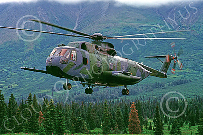 H-3USAF 00006 A hoovering Sikorsy HH-3 Jolly Green Giant Elmendorf 8-1984 helicopter picture by Peter J Mancus