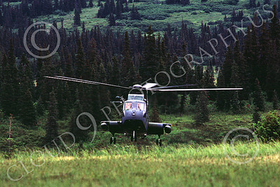 H-3USAF 00003 A hoovering Sikorsy HH-3 Jolly Green Giant Elmendorf 8-1984 helicopter picture by Peter J Mancus