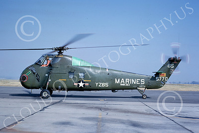 H-34USMC 00003 A taxing Sikorsky H-34 Seabat HMM-363 USMC MCAS El Toro 5-1965 helicopter picture by Peter B Lewis