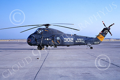 H-34USMC 00005 A static Sikorsky H-34 Seabat NAVY MARINE MCAS El Toro 8-1967 helicopter picture by Peter B Lewis