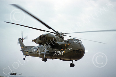 H-37USA 00002 A flying Sikorsky H-37 Mojave US Army helicopter picture by William D Shipp