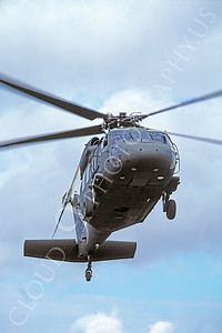 H-60USA 00008 A flying Sikorsky UH-60 Blackhawk US Army 2-1987 helicopter picture by Peter J Mancus