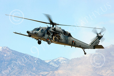 H-60USAF 00070 A flying Sikorsky HH-60 Pave Hawk USAF helicopter picture 8-2005 by Peter J Mancus