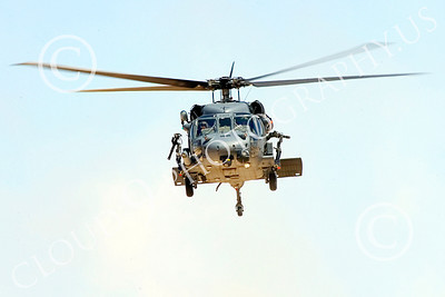 H-60USAF 00080 Head-on view of a flying Sikorsky HH-60 Pave Hawk USAF helicopter picture 8-2005 by Peter J Mancus
