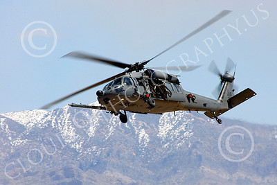H-60USAF 00068 A flying Sikorsky HH-60 Pave Hawk USAF helicopter picture 8-2005 by Peter J Mancus