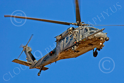 H-60USAF 00060 A flying SHARKMOUTH Sikorsky HH-60G Pave Hawk USAF helicopter picture by Peter J Mancus