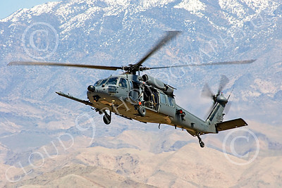 H-60USAF 00076 A flying Sikorsky HH-60 Pave Hawk USAF helicopter picture 8-2005 by Peter J Mancus