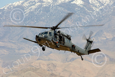 H-60USAF 00062 A flying Sikorsky HH-60 Pave Hawk USAF helicopter picture 8-2005 by Peter J Mancus