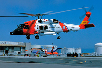 HH-60USCG 00004 A flying Sikorsky HH-60 Jayhawk USCG SFO 8-1992 helicopter picture by S W D Wolf