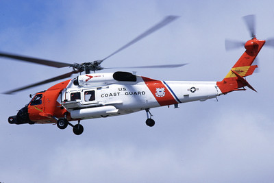 HH-60USCG 00002 A flying Sikorsky HH-60 Jayhawk helicopter picture 8-1992 by S W D Wolf