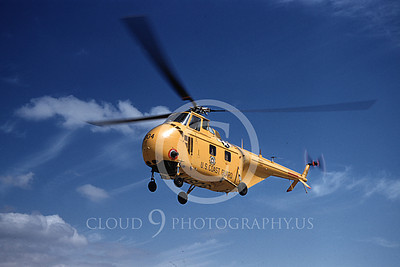 HO4SUSCG 00002 A flying yellow Sikorsky USCG helicopter picture 8-1954 by Bill Larkins