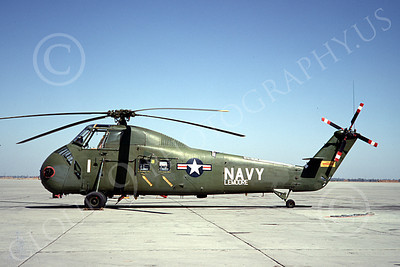 HSS-USN 00001 A static Sikorsky HSS Seabat USN NAS Lemoore helicopter picture 9-1968 by Clay Jansson