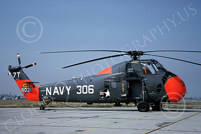 HSS-USN 00003 A static Sikorsk HSS Seabat USN 7T code helicopter picture 7-1964 by Clay Jansson