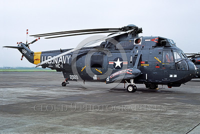 SH-3USN-HC-1 005 A static dark blue Sikorsky SH-3A Sea King USN 148989 HC-1 PACIFIC FLEET ANGELS Atsugi 9-1979 military helicopter picture by R R Burgess     DONEwt