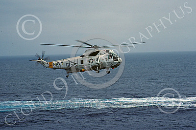 SH-3USN 00036 A flying Sikorsky SH-3 Sea King USN HS-8 EIGHT BALLERS USS Constellation 3-1984 helicopter picture by Peter J Mancus