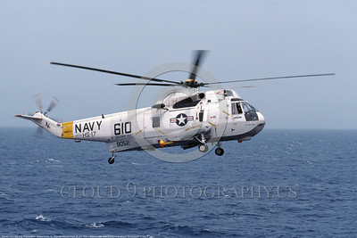 SH-3USN-HS-17 002 A flying Sikorsky SH-3H Sea King USN anti-submarine warfare helicopter 148052 HS-17 NEPTUNE RAIDERS USS Coral Sea 5-1986 military helicopter picture by Michael Grove, Sr     DONEwt