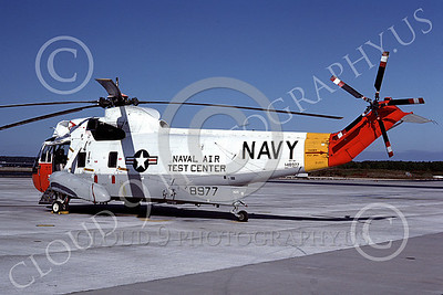 SH-3USN 00039 A static Sikorsky SH-3H Sea King USN NAVAL AIR TEST CENTER NAS Pax River 10-1982 helicopter picture by S W D Wolf