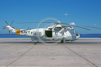 SH-3USN-HS-1 003 A static gray and white Sikorsky SH-3H Sea King USN 148045 anti-submarine warfare helicopter HS-1 SEAHORSE NAS Alameda 11-1990 military helicopter picture by Michael Grove, Sr      DONEwt