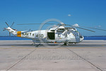 SH-3USN-HS-1 003 A static gray and white Sikorsky SH-3H Sea King USN 148045 anti-submarine warfare helicopter HS-1 SEAHORSE NAS Alameda 11-1990 military helicopter picture by Michael Grove,  ...