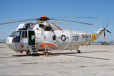 SH-3USN-HC-1 003 A static Sikorsky SH-3 Sea King USN HC-1 PACIFIC FLEET ANGELS NAS North Island 9-1976 military helicopter picture by Michael Grove, Sr      DONEwt