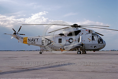 SH-3USN-HS-8 001 A static Sikorsky SH-3H Sea King USN 151535 anti-submarine HS-8 EIGHTBALLERS USS Constellation NAS Miramar 6-1981 military helicopter picture by Michael Grove, Sr      DONEwt