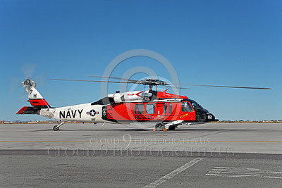 HM - SH-60USN 00038 A colorful US Navy Sikorsky SH-60 Seahawk SAR Search and Rescue helicopter during engine run-up at NAS Fallon, miliary helicopter picture, by Peter J Mancus