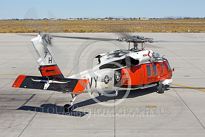HM - SH-60USN 00035 A colorful US Navy Sikorsky SH-60 Seahawk SAR Search and Rescue helicopter assigned to NAS Fallon taxis for take-off at NAS Fallon, miliary helicopter picture, by Peter J Mancus