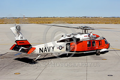 HM - SH-60USN 00007 A colorful US Navy Sikorsky SH-60 Seahawk SAR Search and Rescue helicopter assigned to NAS Fallon taxis for take-off at NAS Fallon, miliary helicopter picture, by Peter J Mancus