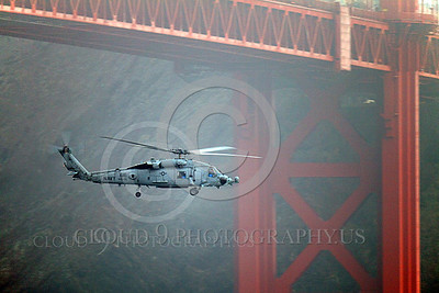 HM - SH-60USN 00010 A US Navy Sikorsky SH-60 Seahawk assigned to HS-15 seen flying under the Golden Gate Bridge, by Peter J Mancus