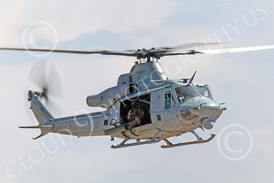 UH-1Y USMC 00012 A flying USMC Bell UH-1Y Huey Venom helicopter, by Peter J Mancus