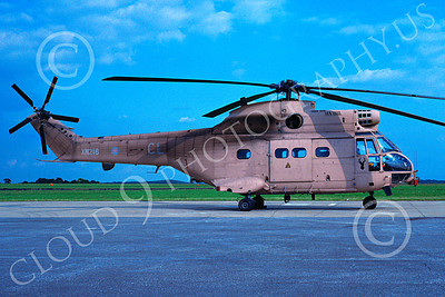 Puma 00005 A static Aerospatiale SA330 Puma British Royal Army helicopter picture 4-1991 by Wilfreid Zetsche