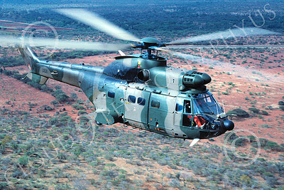Puma 00002 A flying Aerospatiale SA330 Puma South African Army 9-1995 helicopter picture by Carlos Cuna