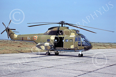 Puma 00001 A static Aerospatiale SA330 Puma Congo Air Force 7-1991 by Wayne Gertz