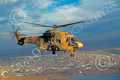 Puma 00004 A flying Aerospatiale SA330 Puma Turkish Air Force helicopter picture by Soner Capoglu