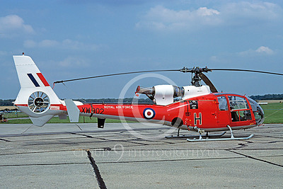 Gazelle 00001 A static Aerospatiale (Eurocopter) SA 342 Gazelle British Royal Marines helicopter picture 7-1982 by S W D Wolf